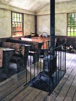 One Room Schoolhouse With Stove