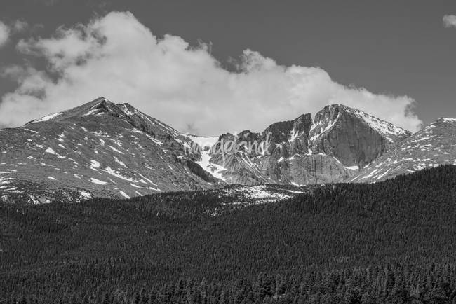 Longs Peak Diamond Monochrome