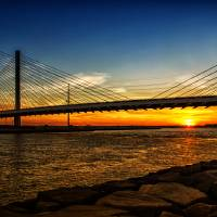 """""""Indian River Inlet Sunset Under the Bridge"""" by travel"""