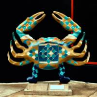 Blue Crab Statue at Baltimore Inner Harbor Art Prints & Posters by Bill Swartwout