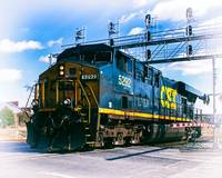 CSX Engine 5292 at Warner Street Xing Baltimore MD