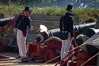 Beason's Son Cannon Firing at Fort McHenry