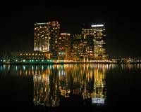 Harbor East Baltimore Night Reflections