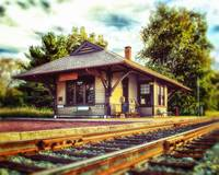 Landmark Queponco Railroad Station in Newark MD