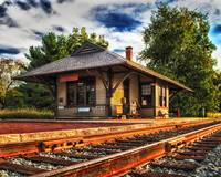 Historic Queponco Railroad Station in Newark MD