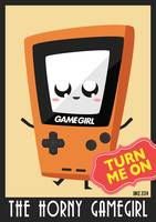 Horny Gameboy V3 poster Orange