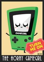Horny Gameboy V3 poster Green