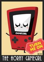Horny Gameboy V3 poster Red