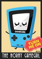Horny Gameboy V3 poster Blue