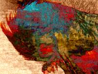 Rooster Abstract Klimt Style