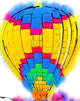 The Yellow And Blue Balloon by Kirt Tisdale