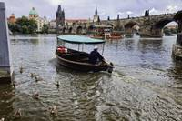Small Boat on the Vltava River, Prague