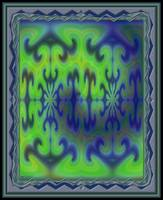 Symmetrical Image with Ramp Gradient Color Transfo