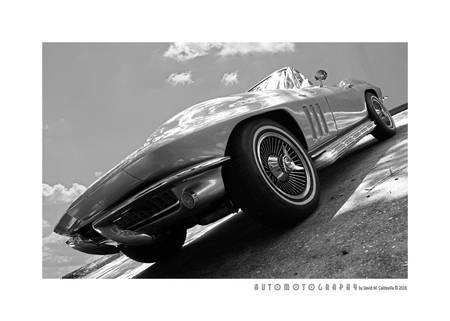 1966 Corvette BW Poster
