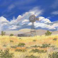 New Mexico Windmill 2 Art Prints & Posters by Ellie Taylor