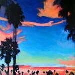 Mission Bay Sunset Mission Beach San Diego by RD Riccoboni