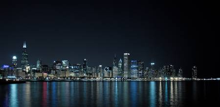 Chicago Skyline (Blue)