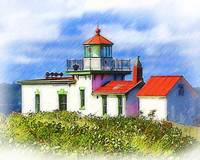 Sketched West Point Lighthouse by Kirt Tisdale