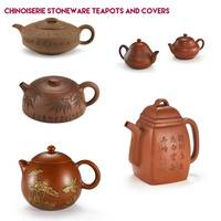 Chinoiserie Stoneware Teapots and Covers