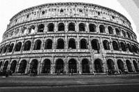 Dotted Pencil Drawing of Rome Monument Colosseum I