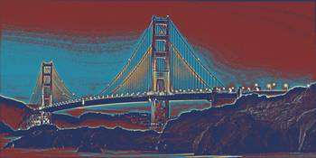 golden gate - san francisco trvel poster 2