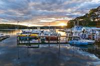 Sunset at Narooma Marina