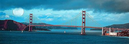 The Golden Gate Bridge in SFO