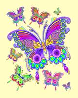 Butterflies Colorful Tattoo Style