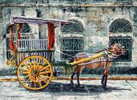 A Carriage in intramuros, Manila