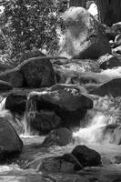 Bridal veil fall, downstream (B&W)