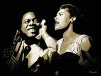 Louis Armstrong and Billie Holiday Portrait