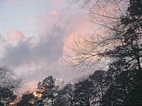 NORTH CAROLINA PINK CLOUDS AT SUNSET