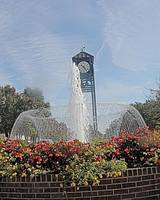 THOMASVILLE NORTH CAROLINA CLOCK AND FOUNTAIN