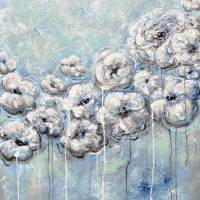 """""Precious Moments"" Blue White Flower Painting"" by ChristineKrainock"