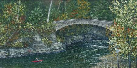 The Bridge at Beebe Lake, Cornell University