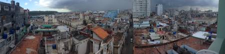 Havana Rooftops with Approaching Storm