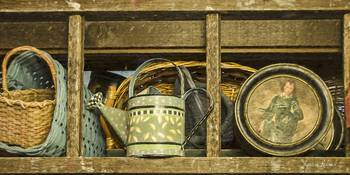 Basket, Watering Can and Boy