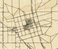 Vintage Map of Anaheim California (1894)