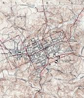 Vintage Map of Chapel Hill North Carolina (1946)