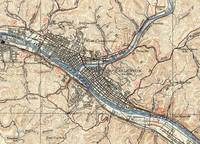 Vintage Map of Charleston West Virginia (1931)