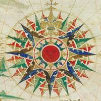 Vintage Compass Rose Diagram (1502)