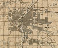 Vintage Map of Denver Colorado (1888)