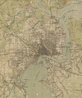 Vintage Map of Jacksonville Florida (1917)