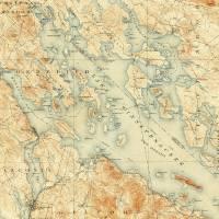 """Vintage Map of Lake Winnipesaukee (1907)"" by Alleycatshirts"