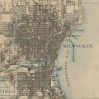 Vintage Map of Milwaukee Wisconsin (1899)