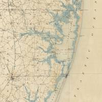 """Vintage Map of Ocean City Maryland (1900)"" by Alleycatshirts"