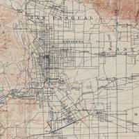 Vintage Map of Pasadena California (1894)