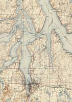 Vintage Map of The Puget Sound (1934)