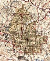 Vintage Map of Raleigh North Carolina (1940)