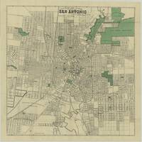 Vintage Map of San Antonio Texas (1909)